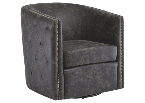 Brentlow Distressed Black Accent Chair (A3000202)