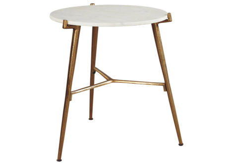 Chadton White/Gold Accent Table (A4000004)