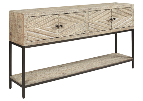 Roanley Distressed White Console Table (A4000262)
