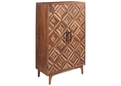 Gabinwell Two-Tone Brown Accent Cabinet (A4000267)
