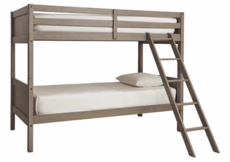 Lettner Twin/Twin Bunk Bed with Ladder (B733-59)