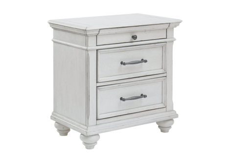 Kanwyn Whitewash Nightstand (B777-93)