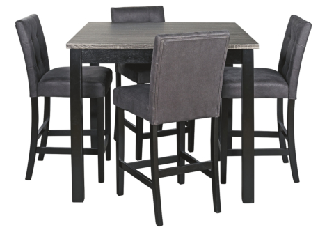 Garvine Counter Dining Table and Bar Stools (Set of 5) (D161-223)