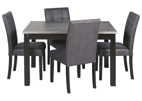 Garvine Two-Tone Dining Table and Chairs (Set of 5) (D161-225)