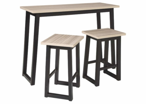 Waylowe Counter Height Dining Room Table and Bar Stools (Set of 3) (D201-113)