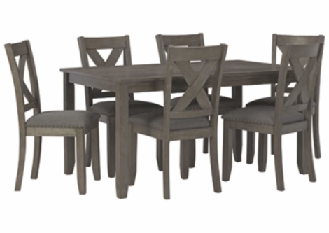 Caitbrook Dining Room Table and Chairs (Set of 7) (D388-425)