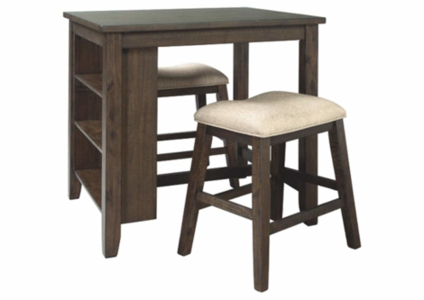 Rokane Counter Dining Table and Bar Stools (Set of 3) (D397-113)