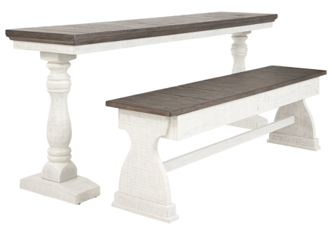 Braelow Two-Tone Dining Table and Bench (Set of 2) (D504-111)