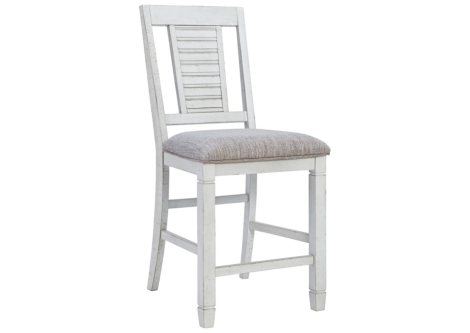 Teganville Antique White Counter Height Bar Stool (Set of 2) (D755-124)