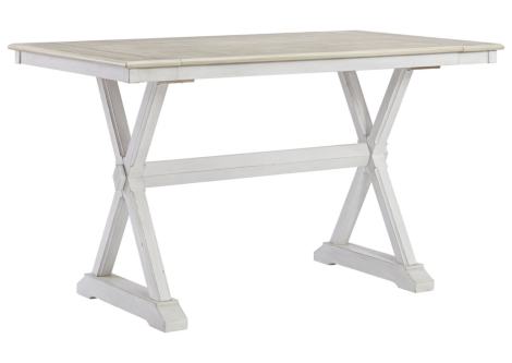 Teganville Two-Tone Counter Height Dining Table (D755-32)