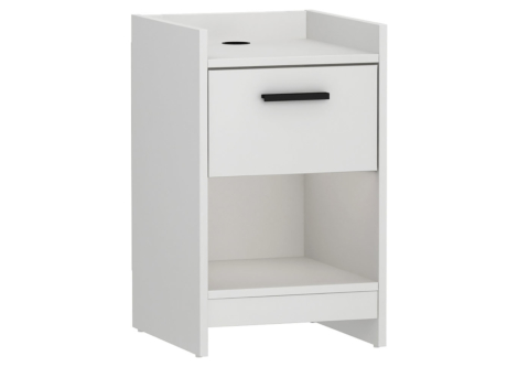 Central Park White Nightstand (EB208753A)