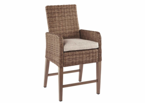 Beachcroft Beige Bar Stool w/Cushion (Set of 2) (P791-130)