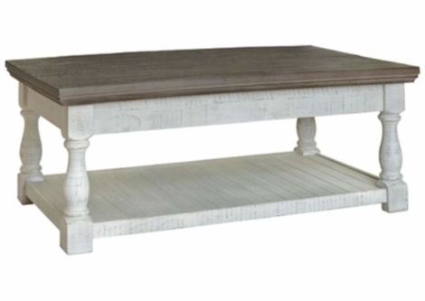 Havalance Gray/White Lift-Top Coffee Table (T814-9)
